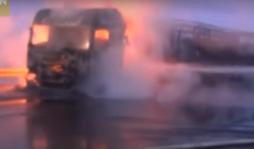 Police in China herd cattle after livestock truck bursts into flames