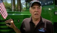 Farmer drives tractor across U.S. for wounded veterans
