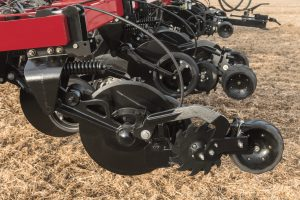 The enhanced row unit found on the Nutri-Placer 930 fertilizer applicator with new High-speed Low Disturbance (HSLD) coulter is designed to maximize productivity and crop nutrient uptake.