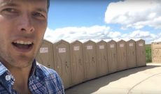 Farmer Derek eclipse vlog #2: Porta potty