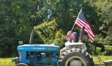 Farmer puts his American pride on display — for better or for worse