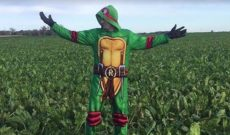 Once in a coma, Minnesota farmer brings cheer with costumes