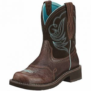 Ariat Women s 8 in. Brown and Turquoise Western Boot 94aed357d5