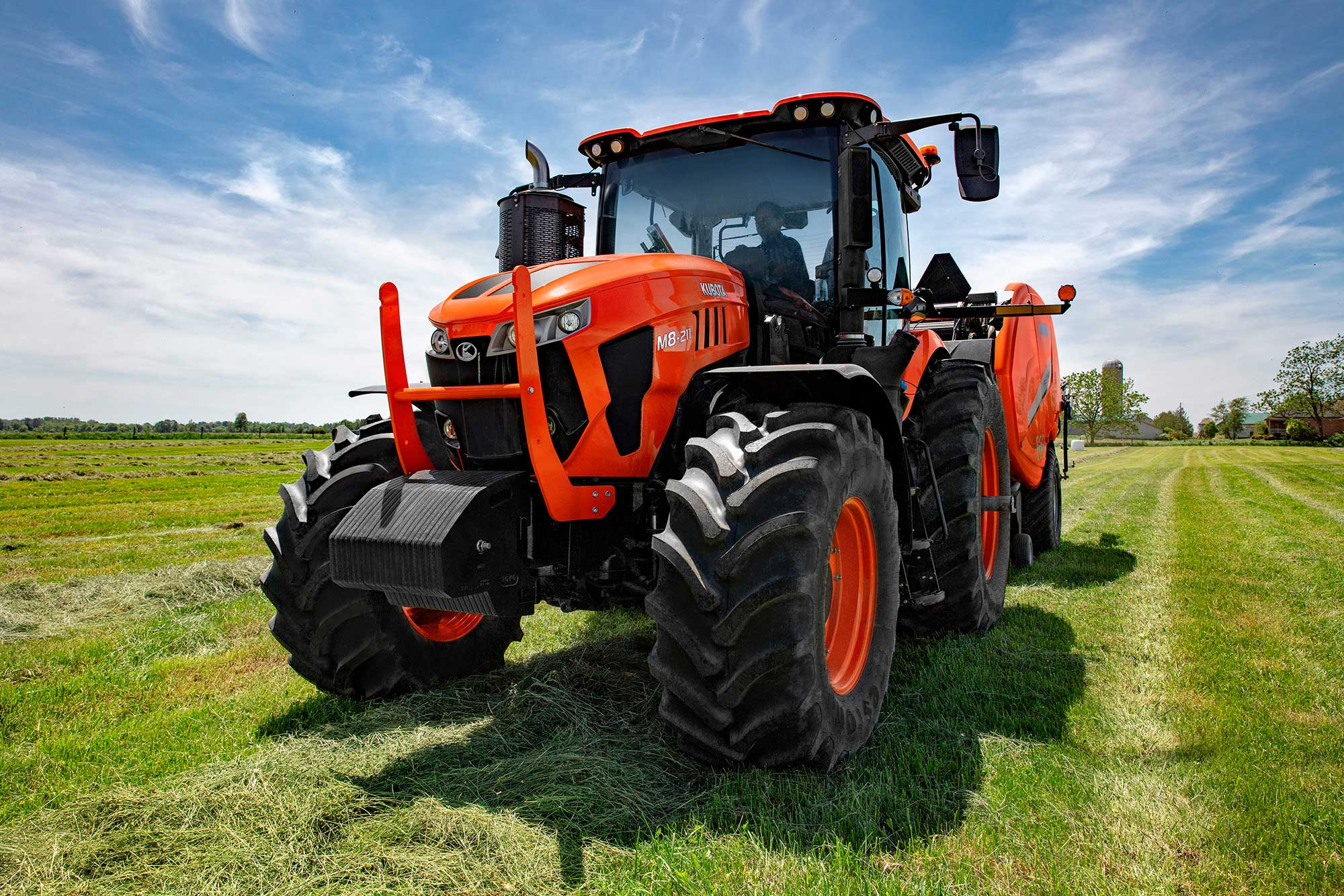 The unveiling of the Kubota M8 -- its largest ag tractor ...