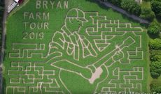 Michigan farm creates Luke Bryan corn maze for Farm Tour