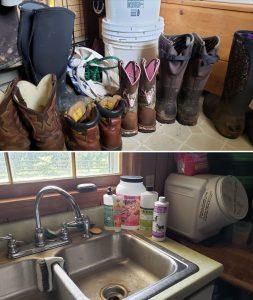 farmhouse mud room