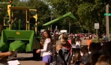 Corn farmer's 'candy combine' is a huge hit for community
