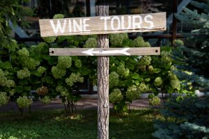 wine tour sign