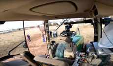 Farmer Derek entertains friends with his 'ghost tractor'